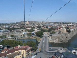 View from Tbilisi lift